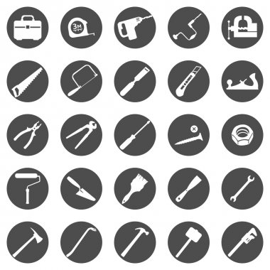 Set of Work Tools Icons