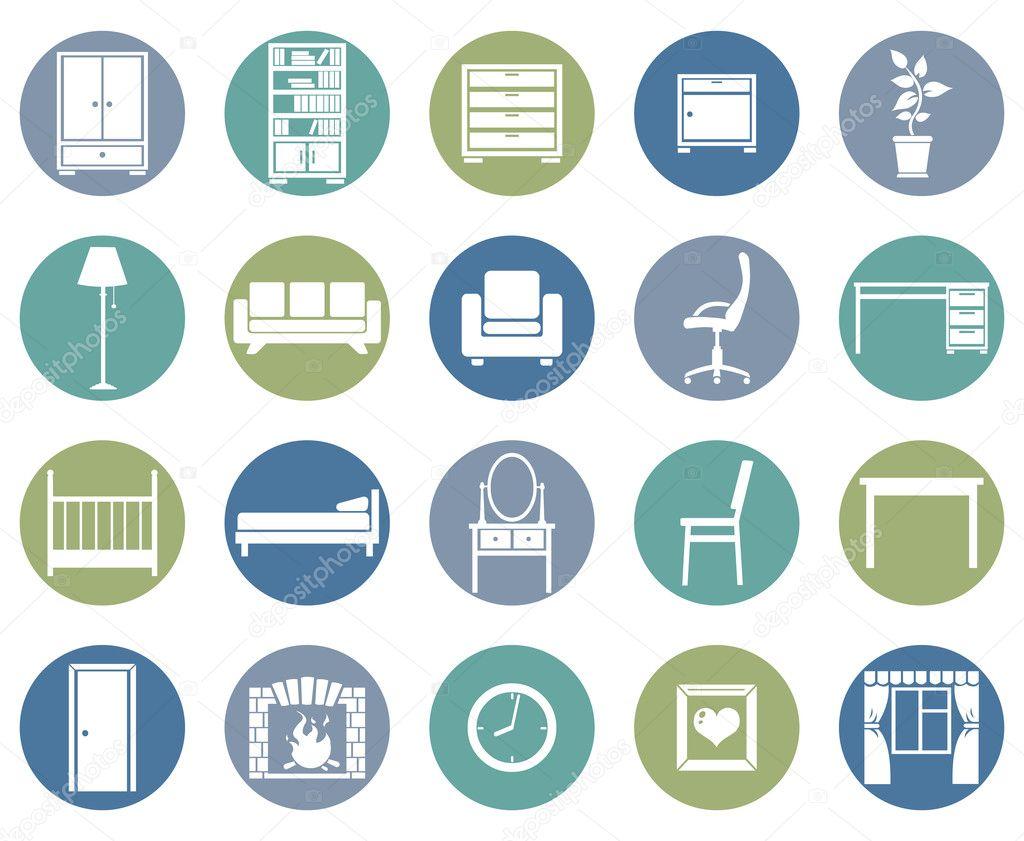 Set of Furniture Icons