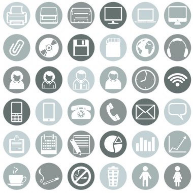 Vector Set of Office Icons