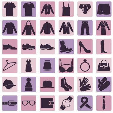 Vector Set of Wear Icons