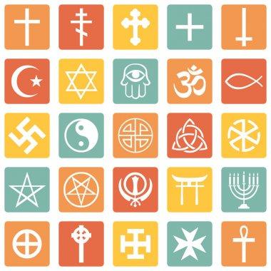 Vector Set of Religious Symbols