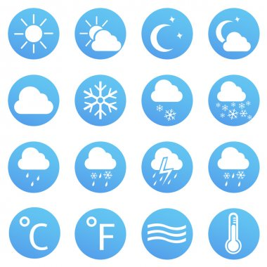 Vector Set of Weather Icons clip art vector