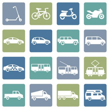 Ground Transportation Icons