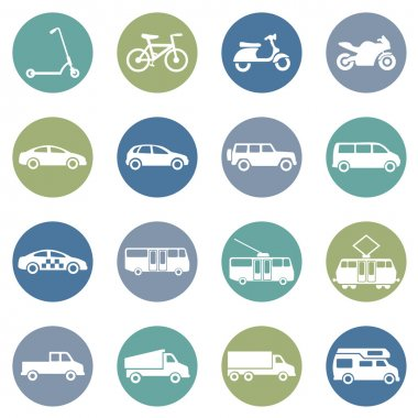 Ground Transportation Icons