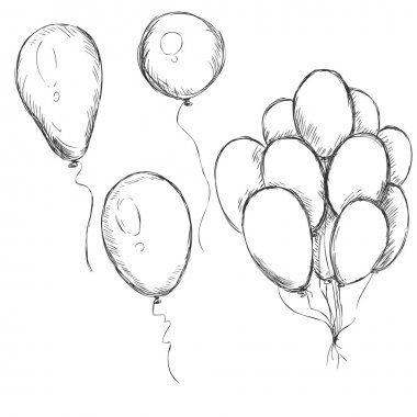 Set of Sketch Balloons