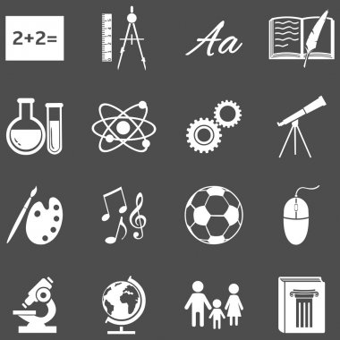 School Subjects Icons