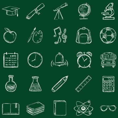 School Subjects Icons.