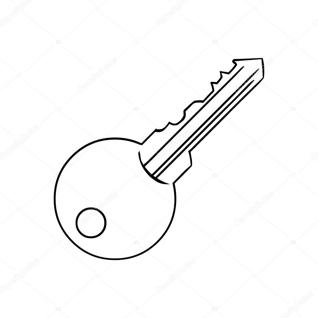 Line Drawing Key : Modern key — stock vector nikiteev
