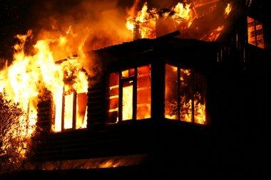 windows of the burning house