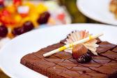 svěží a sladký dezert čokoládové dorty