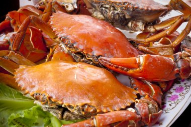 Crabs on plate