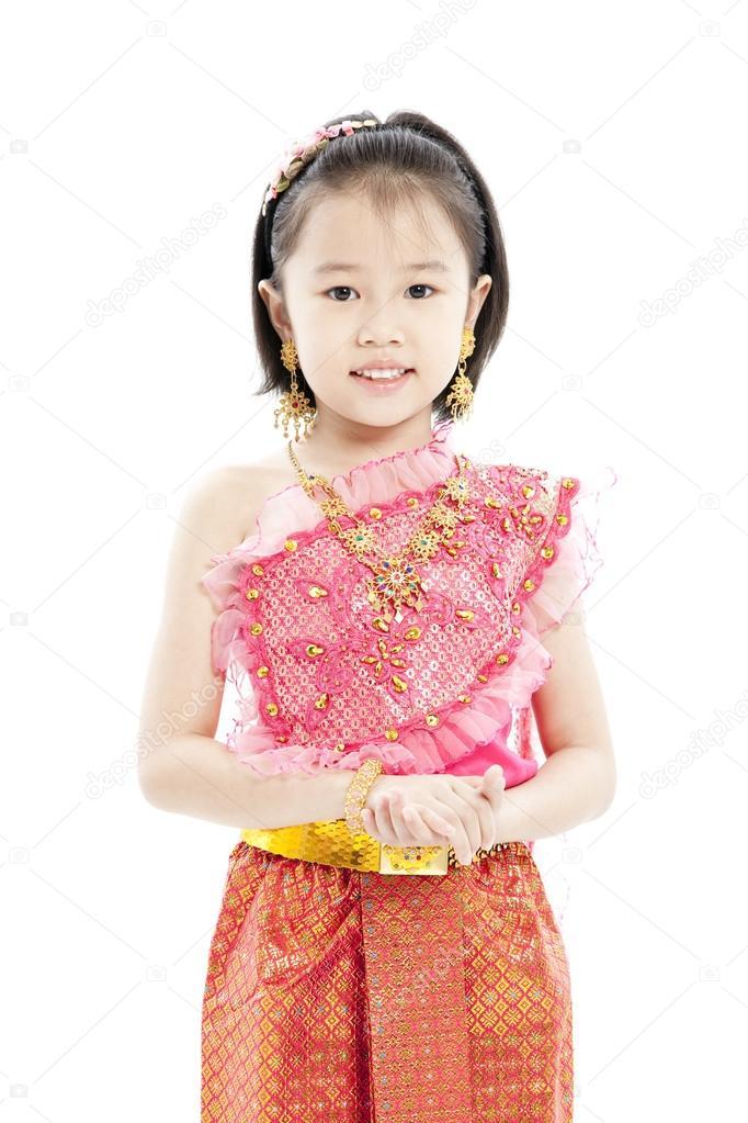 Portrait of beautiful little thai girl stock photo for Tiny thai teen