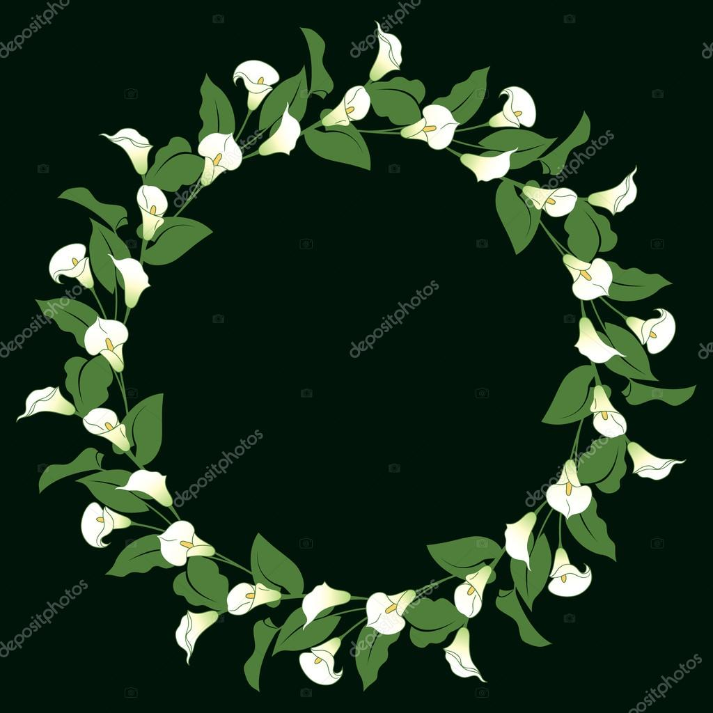 Calla lily wreath