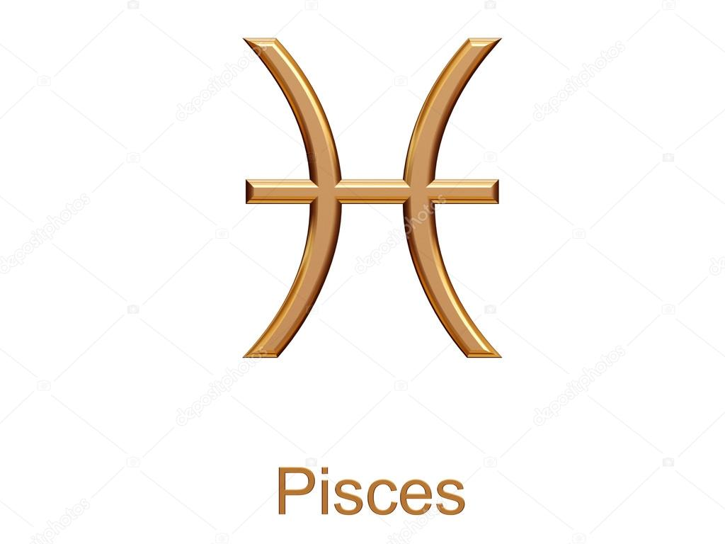 Pisces golden astrological zodiac symbol isolated on white stock pisces golden astrological zodiac symbol isolated on white stock photo biocorpaavc Choice Image