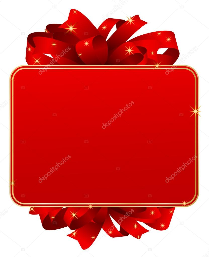 Greeting Card 3d Christmas Gift Card Background Stock Vector
