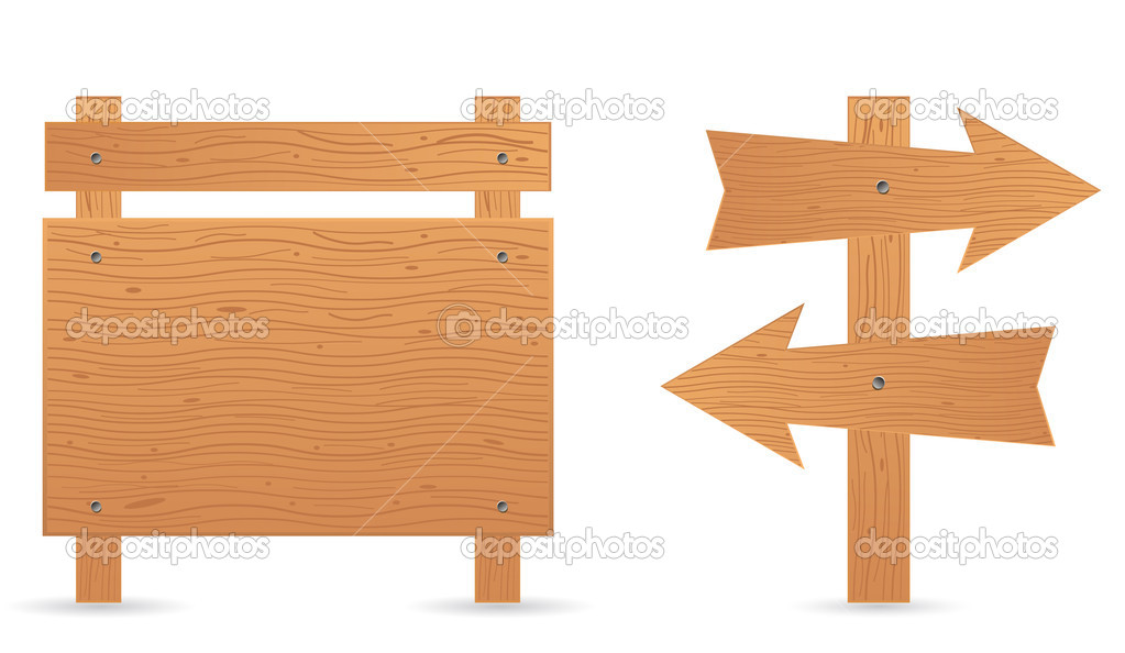 wood tag board and arrow stock vector igarts 28591501 rh depositphotos com