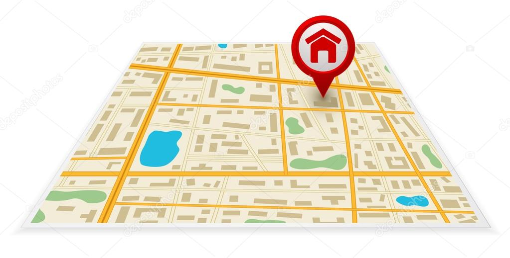 mapa 3d gps map 3d with pin mark icon — Stock Vector © igarts #29693119 mapa 3d