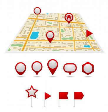 gps map with pins
