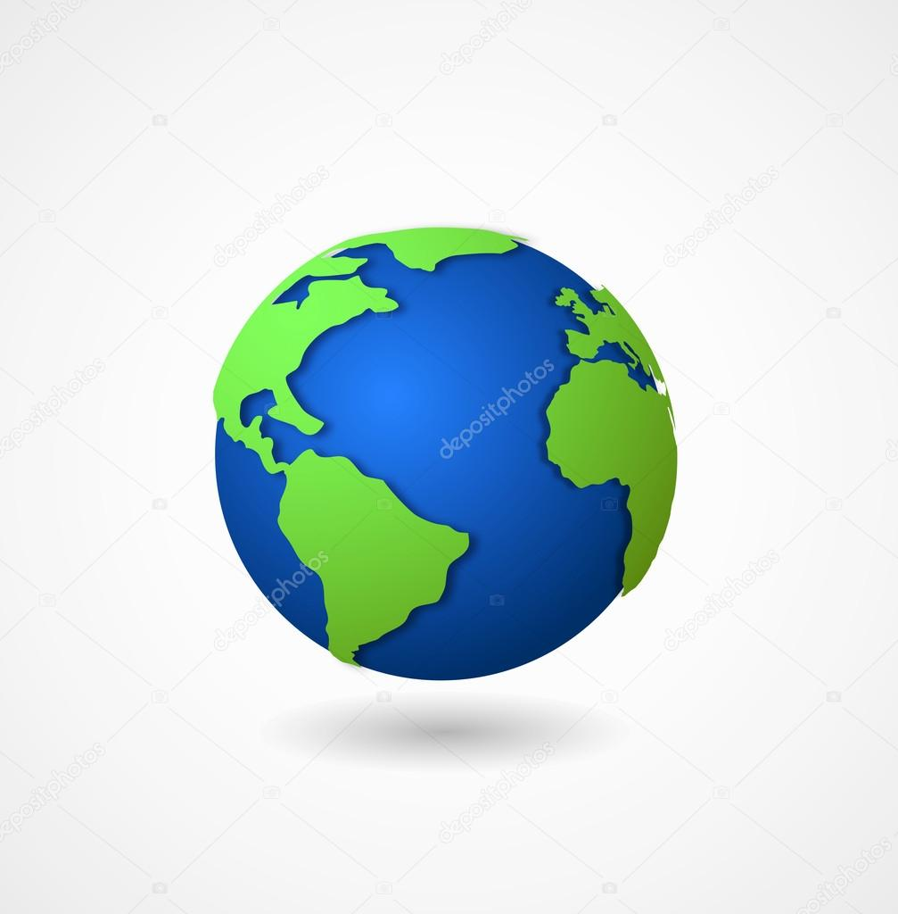 globe world icon 3d