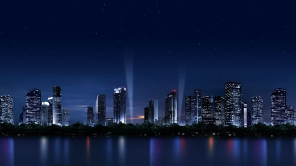 The night scenery of the city