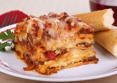 Fotografia pasto di lasagne