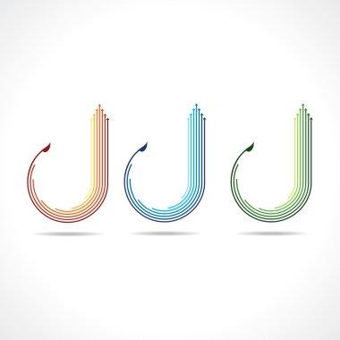 Set of colorful arrow logo