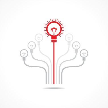 Idea concept with bulb