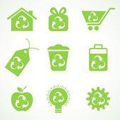 Photo Set of eco friendly icons
