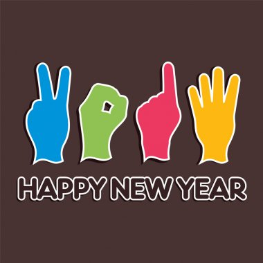 Creative new year,2014 concept with finger