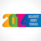 Fotografie Creative happy new year 2014 design
