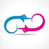 Kreativní ruční ikona vektor koncept