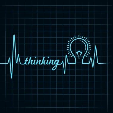 Heartbeat make thinking word
