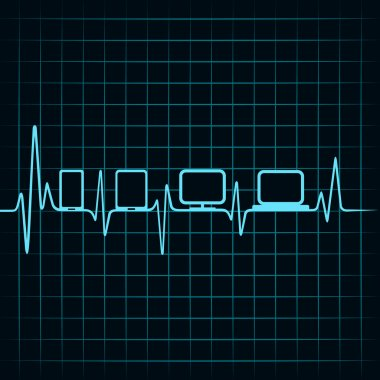 Heartbeat and gadgets icons