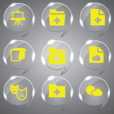 3d icons 3d icons set icon glass icons vector icon set icons icon collection