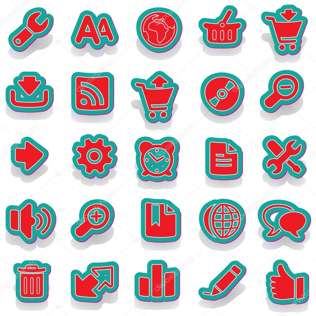 Nálepka ikonu nálepka label nálepka vektorové samolepka značky samolepky  sada ikon sady ikon ikona kolekce — 782bf9926d0