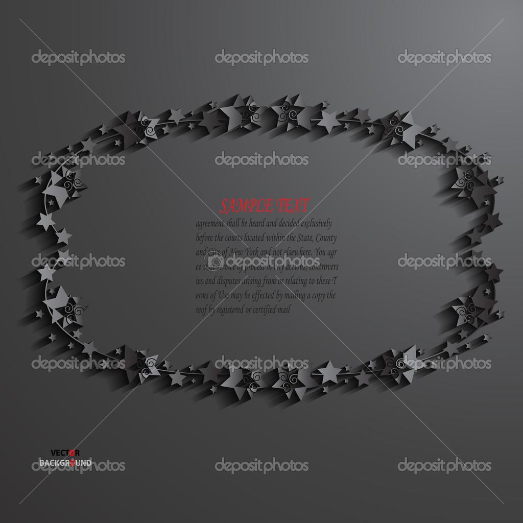 Grenzen Element Weihnachten Hintergrund abstrakt 3D-Design Vektor ...