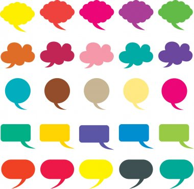 Speech bubble vector illustration