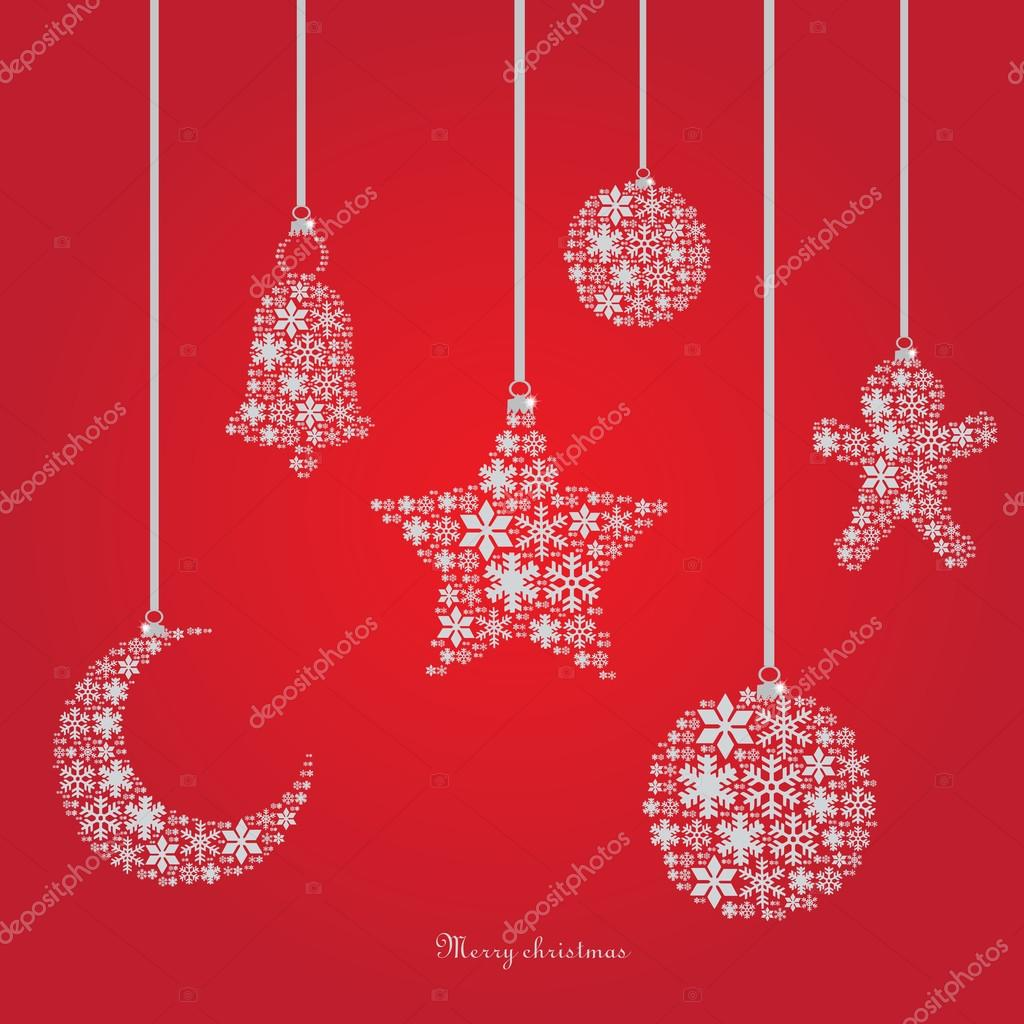 Christmas ornaments made from snowflakes vector illustration — Free Stock Vector © neo61322 #33083375