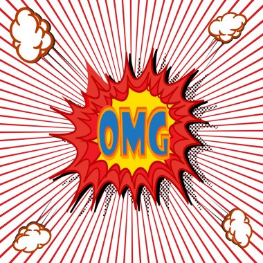 Comic book explosion vector illustration background