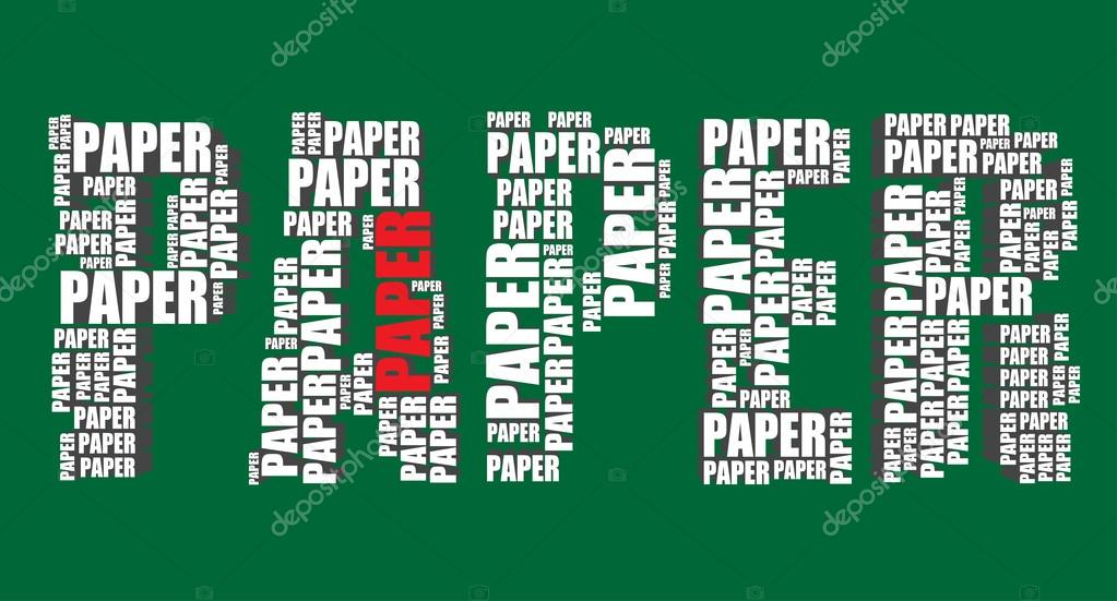 Paper typography 3d text word paper art vector illustration word ...