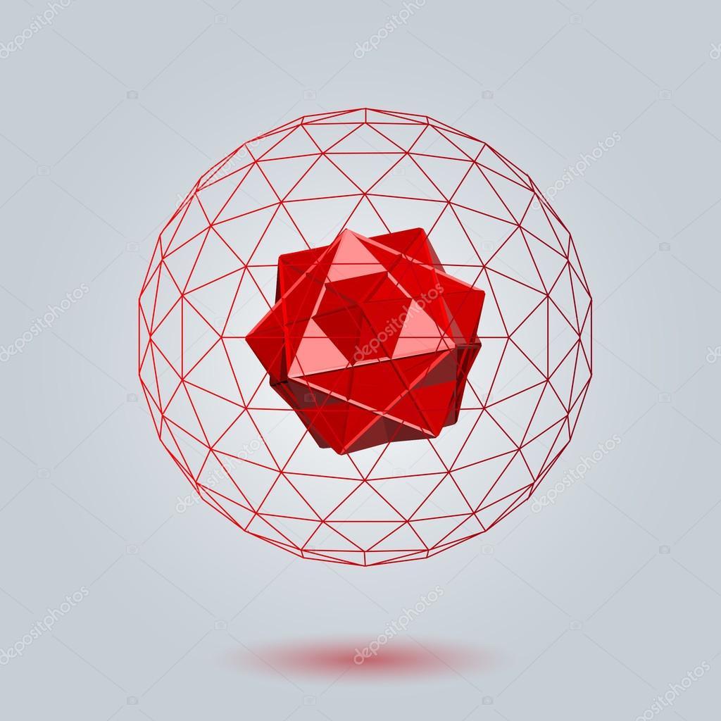 Geometric background 3d geometric abstract art geometric