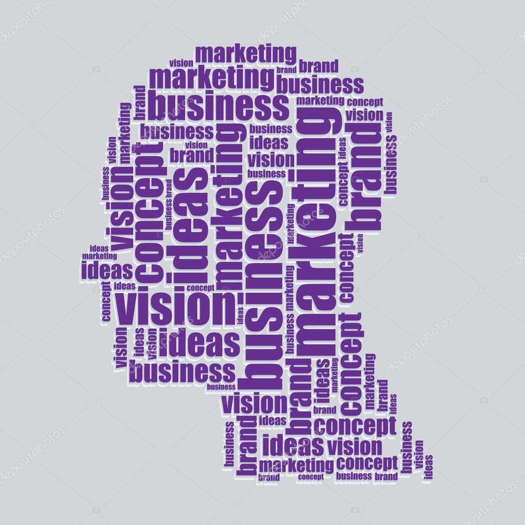 marketing typography 3d text word art marketing vector illustration word cloud  u2014 stock vector