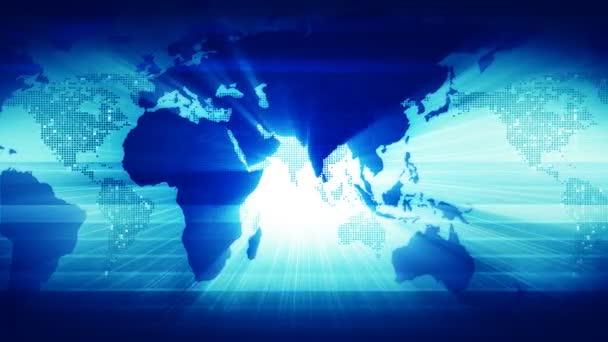 mapa světa. v modrém.