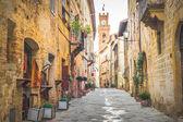 Fotografie alte Stadt Pienza, Toskana zwischen Siena und Rom