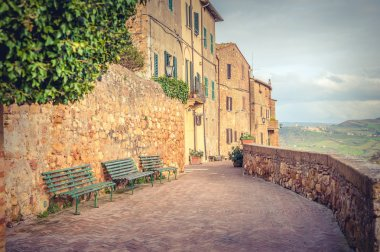 Pienza, a very beautiful place on earth, one of the wonders of the world inscribed by UNESCO stock vector