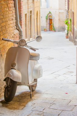 Italian scooter in the street