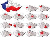 Česká republika provincií mapy