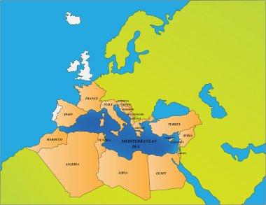 Mediterranean sea countries