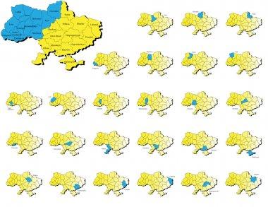 Ukraine provinces maps