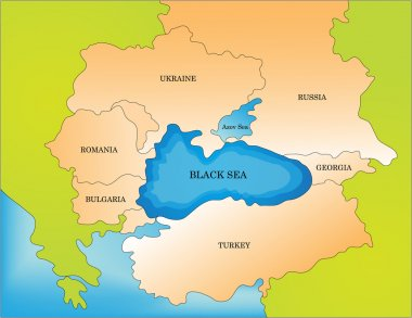 Black sea countries map